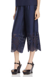 Alise & Olivia pants blue silk