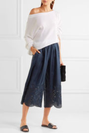 Alise & Olivia pants dark blue silk